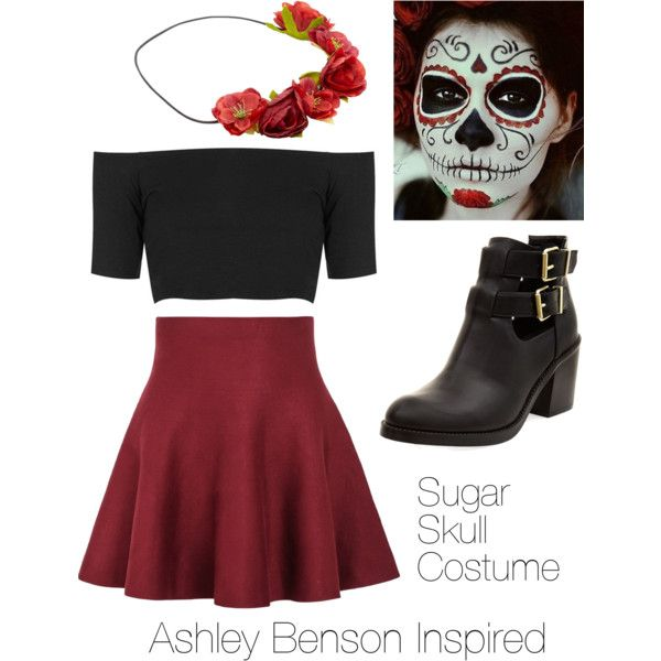 Ashley Benson Inspired Sugar Skull Halloween Costume