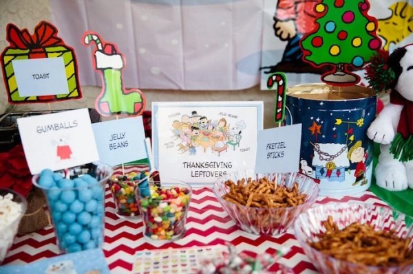 Kara's Party Ideas Charlie Brown Christmas + Snoopy Inspired