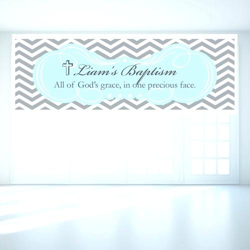 Christening Banners Chevron Or Baptism Personalized Banner