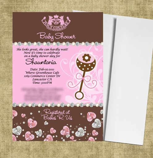 Couture Baby Shower Invitations