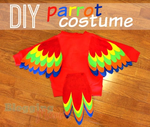 Baby Parrot Costume Diy With Free Pattern Templates