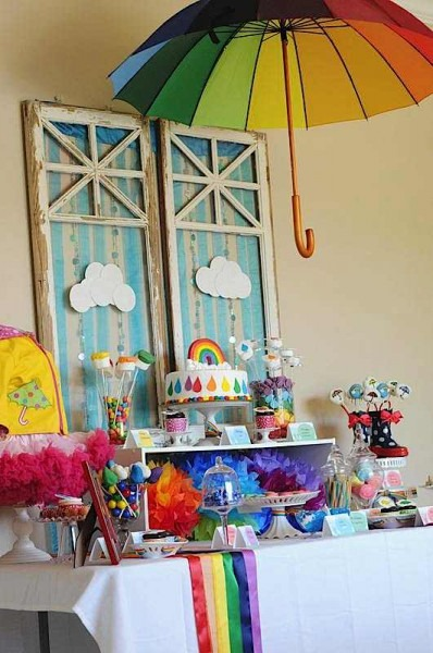 Kara's Party Ideas April Showers & Rainbow Party