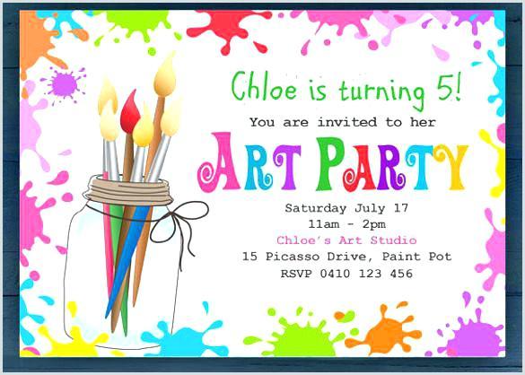 Free Art Party Invitations