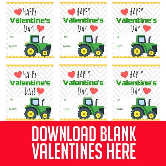 Free Printable John Deere Tractor Valentine's For Boys! (or Girls!)