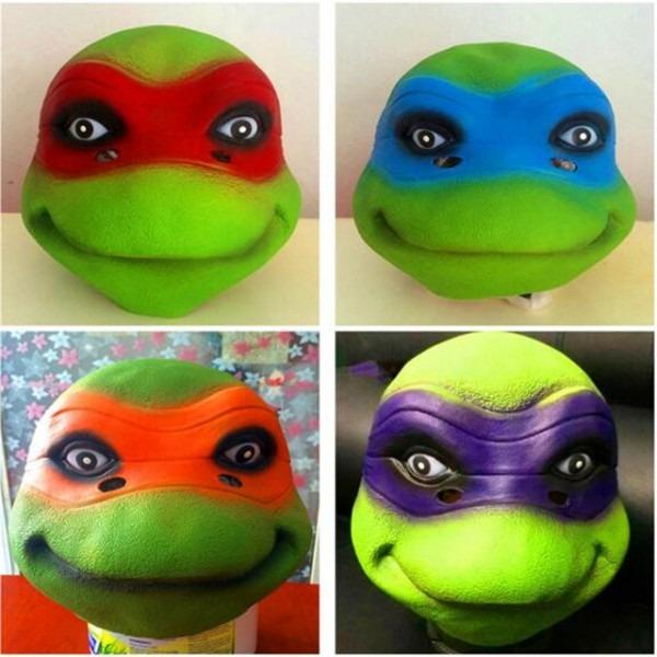High Quality Latex 4 Style Teenage Mutant Ninja Turtles Mask