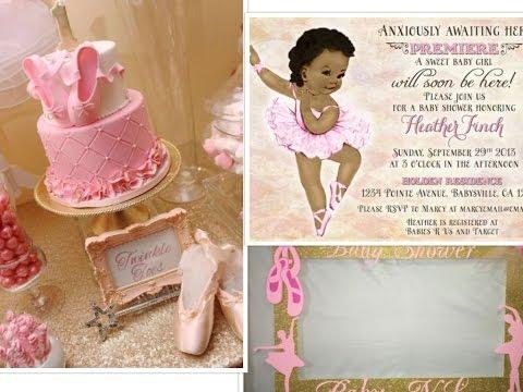 Ballerina Baby Shower Ideas 2017