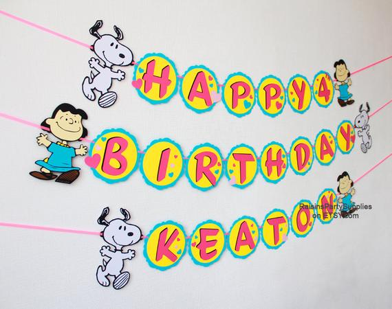 Snoopy Charlie Brown Lucy Woodstock Birthday Decorations Peanuts
