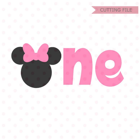 Minnie Mouse First Birthday Svg Minnie Mouse Head Vector