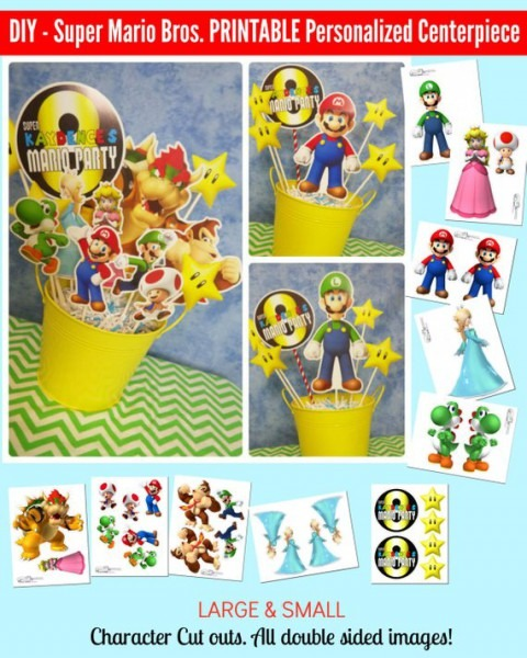 Super Mario Bros  Printable Centerpiece