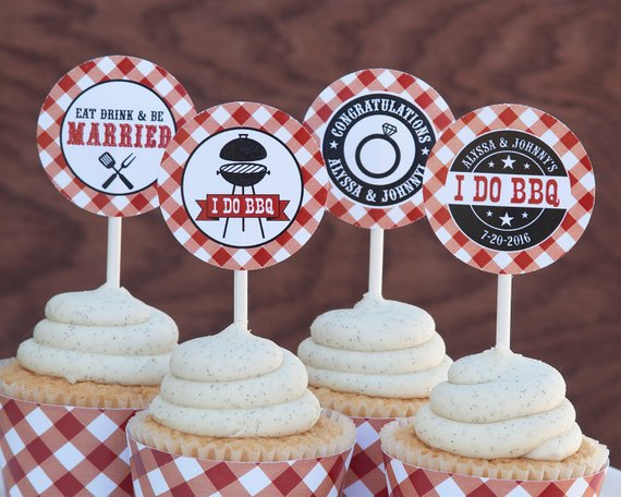 I Do Bbq Cupcake Toppers