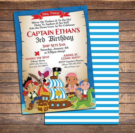 Invitation  Jake And The Neverland Pirates Invitations Free