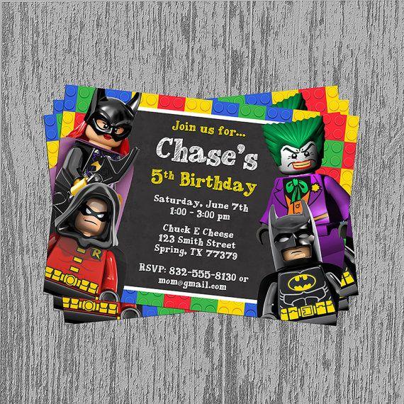 Lego Batman Party Unique Lego Batman Birthday Party Invitations