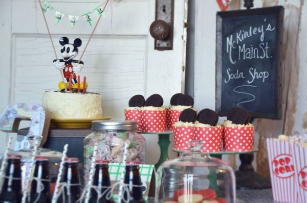Kara's Party Ideas Vintage Mickey Mouse Themed Birthday Party