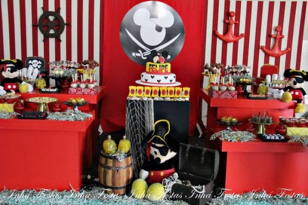 Kara's Party Ideas Mickey Mouse Pirate Themed Birthday Party
