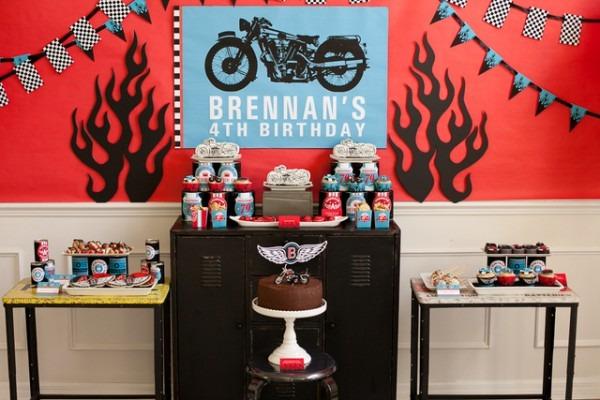Motorcycle Birthday Party, Biker Celebration Ideas