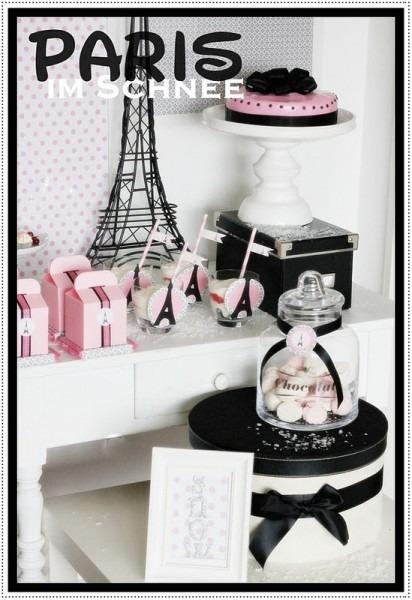 Kara's Party Ideas Paris In The Snow, Winter Birthday Party