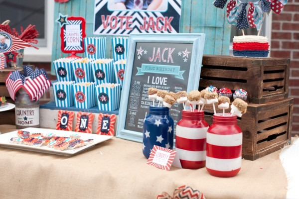 Red, White & Blue  Patriotic First Birthday Party!