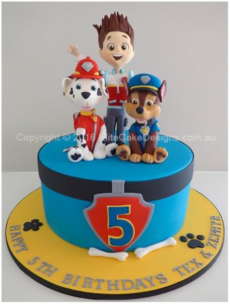 The Paw Patrol Kids Birthday Cake, Birthday Cakes For Kids