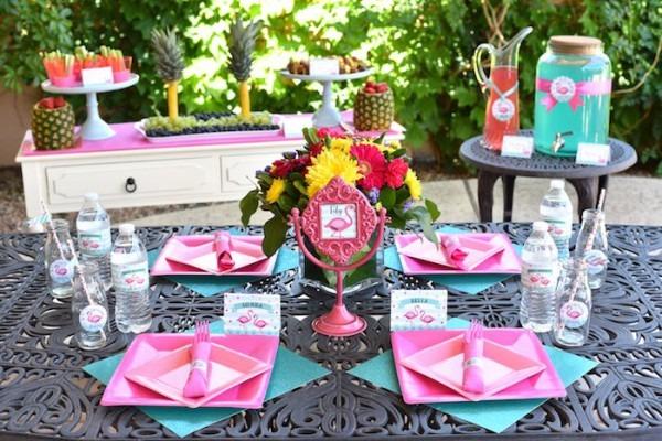 Kara's Party Ideas Pink Flamingo Pool Party