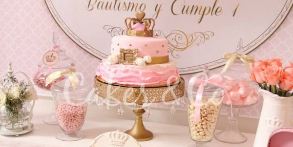 Kara's Party Ideas Pink & Gold Princess First Birthday Party