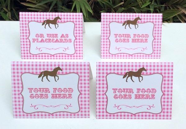 Horse Birthday Party Printable Templates