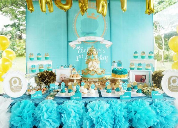 Kara's Party Ideas Royal Prince First Birthday Party {ideas