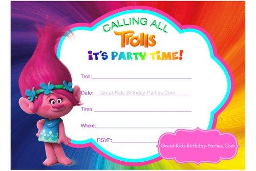 Printable Trolls Birthday Invitations New Trolls Birthday