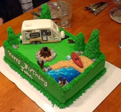 Camping Themed Birthday Cake – Roo 233s