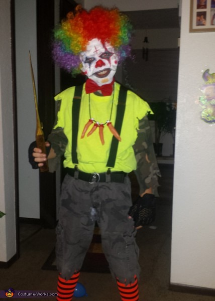 Scary Clown Halloween Costume Diy