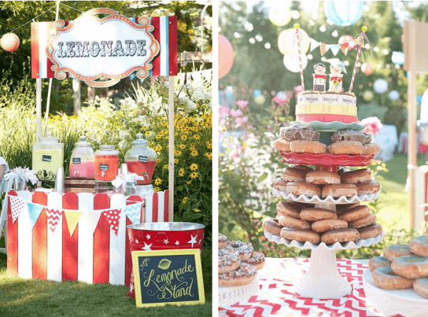Kara's Party Ideas Outdoor Wedding Reception Carnival Circus