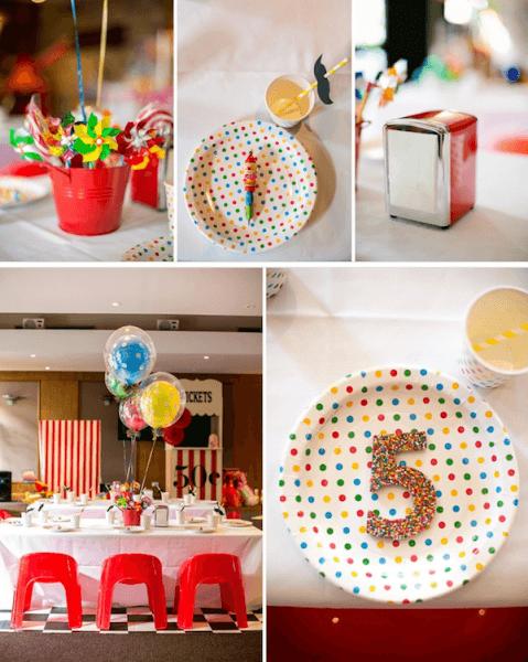 Kara's Party Ideas Circus Carnival Boy Girl 5th Birthday Party