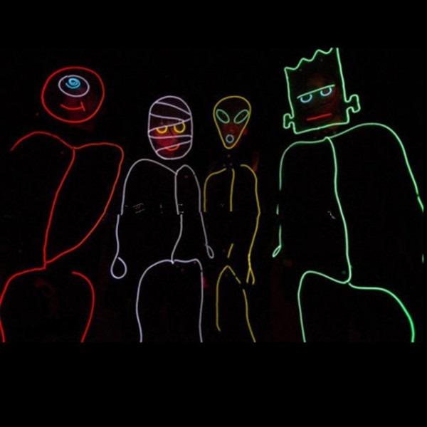 Stick Figure Costume Led Luminous El Wire Kit Tron Burning