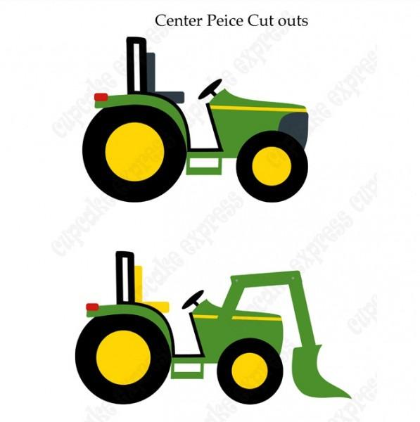 John Deere Inspired Printable Tractor Center Piece Signs Diy Green