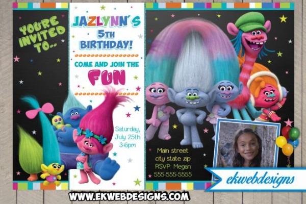Trolls Birthday Party Invitations From Ekwebdesigns And Get Ideas