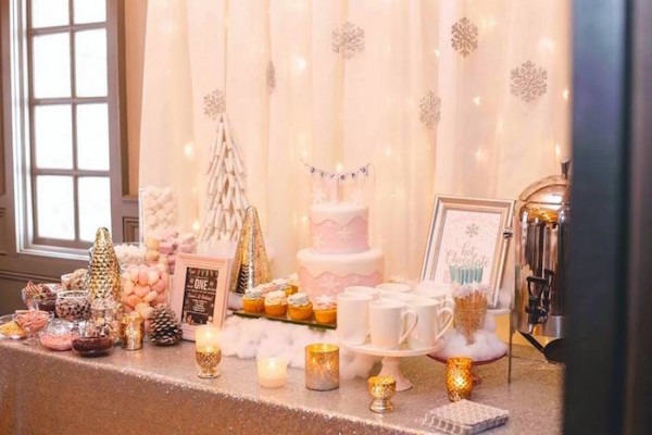 Kara's Party Ideas Winter Onederland First Birthday Party