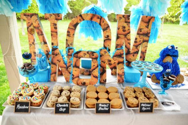 Kara's Party Ideas Chic Girl Blue Diy Cookie Monster Birthday