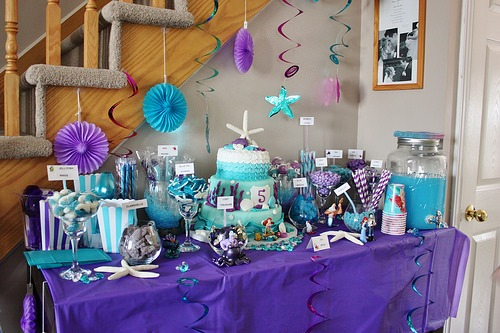 Under The Sea  Candy Bar { The Little Mermaid  Birthday Party