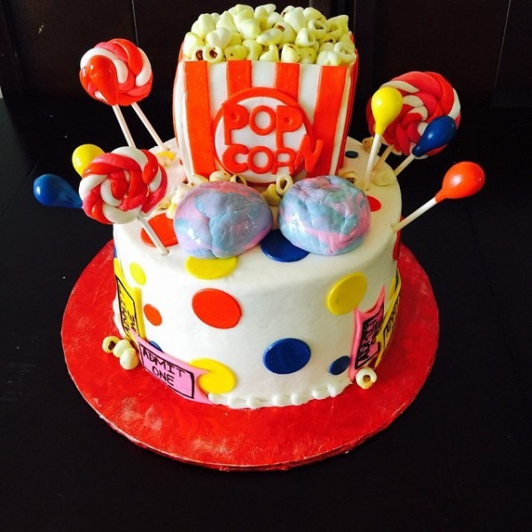 Carnival Themed 1st Birthday Cake Buttercream With Fondant…