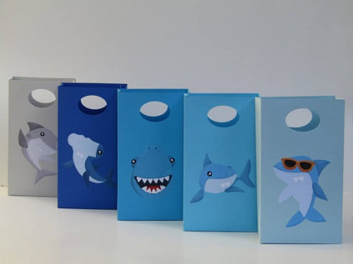 10 Shark Party Favor Bag