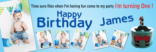1st Birthday Banners For Boys Personalised 18 1st Birthday