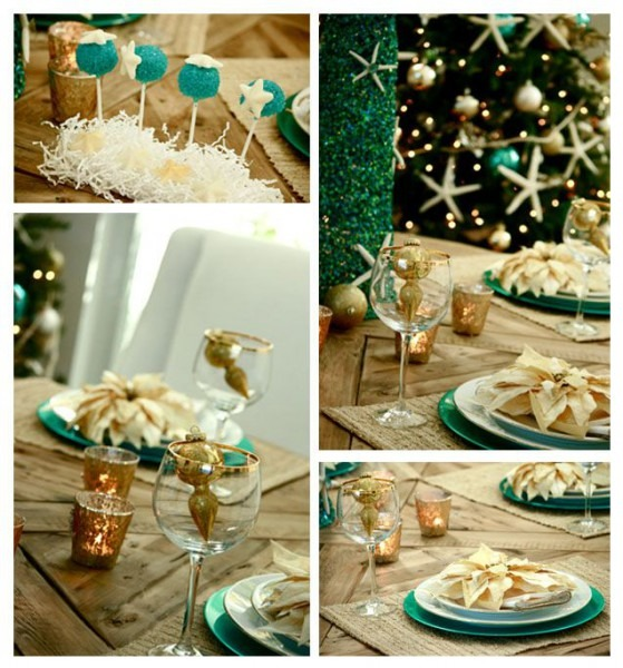 Coastal Christmas Party Decor Ideas  Colors Of The Sand,water And