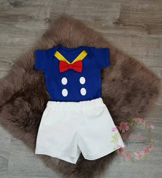 Donald Duck 1st Birthday Boy Outfit, Cake Smash Boy Outfit, First