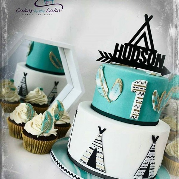 Teepee Cake By @cakes_by_the_lake Consisted Of Vanilla Turqouise