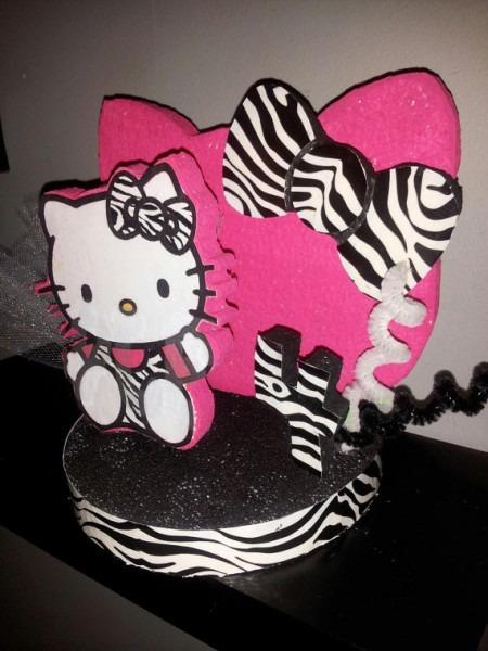 Hello Kitty Zebra Party Favor  Cake Topper