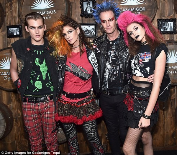 Cindy Crawford And Her Family Dress Up Like Punk Rock Stars For