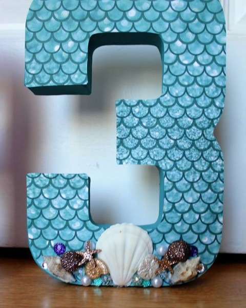 Little Mermaid 3rd Birthday Party 3d Centerpieces  Maybe Do Their