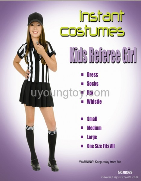 Kids Referee Girl Child Referee Funny Fancy Costume For Carnival