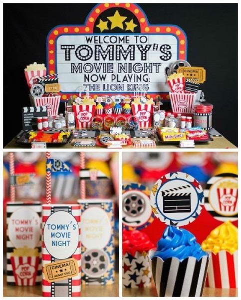 Movie Night Themed Birthday Party Via Kara's Party Ideas