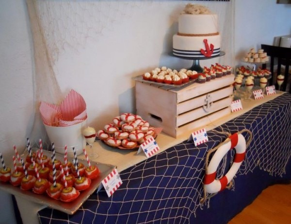 Nautical Theme Dessert Table For My Bridal Shower By  Le Petite
