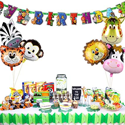Amazon Com  Partytalk 6pcs Jungle Safari Animal Balloons With Zoo